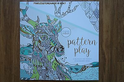 Kaisercraft Kaisercolour PATTERN PLAY 25X25CM colouring coloring book CL527 NEW