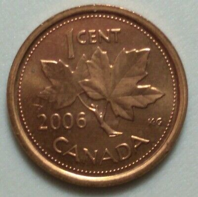 2006 Non Magnetic With RCM Logo Canada 1 Cent Penny