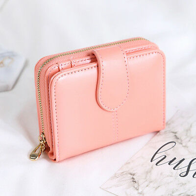 Short Women Wallets Mini Money Purses Small Fold Coin Card Holder Handbag S3