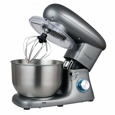 Cookmii Electric Food Stand Mixer 1500W 6 Speeds 5.5L Stainless Steel Bowl New