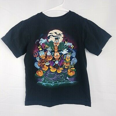 Kids Disney Mickey Mouse Friends Halloween Graphic T Shirt Youth Size 2XS 2/3