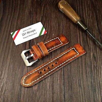 74 Vintage leather Watch Strap 24mm per Panerai 24 orologio Cinturino Pelle