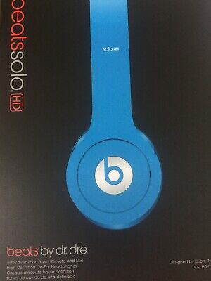Beats by Dr. Dre Solo HD OnEar Headphones BOX ONLY!!