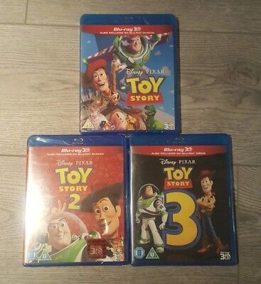 Toy Story Trilogy 3D (Blu-ray 2D/3D) DISNEY PIXAR BRAND NEW!!