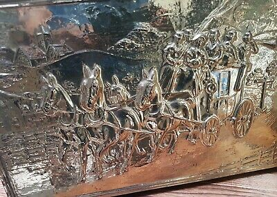 Impressive, Lombard Brass On Wood Magazine-Rack. 1940s/50s. With Tag
