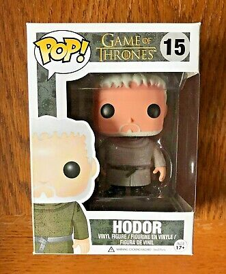 Funko POP! HODOR #15 Game of Thrones LIMITED VAULTED NEW In PROTECTOR, VIEW PICS