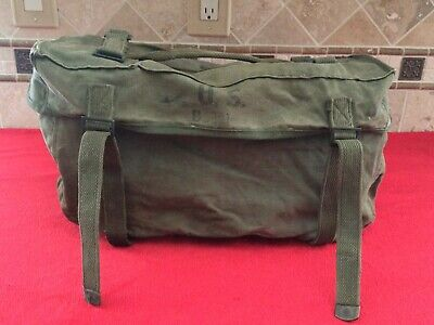 Original U.S. Korean War Post WW2 M1945 Cargo Field Pack - Lower Bag Dated 1951