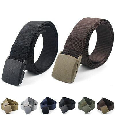 Fashion Mens Outdoor Sports Military Nylon Waistband Canvas Web Belt Dazzling