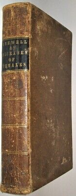 LEATHER;DISEASES PECULIAR TO WOMEN!Woman Anatomy Medicine Medical Gray 1848!RARE