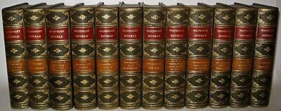 LEATHER Set;SIR WALTER SCOTT, THE WAVERLY NOVELS! Complete ANTIQUARIAN Gorgeous!
