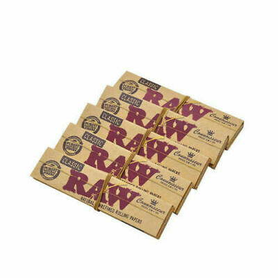 6 Packs Raw Classic King Size Slim Organic Filter With Tips Rolling Papers