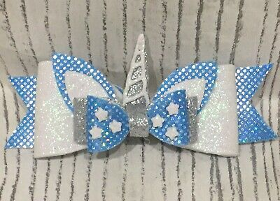 Unicorn Stacked Glitter Hair Bow
