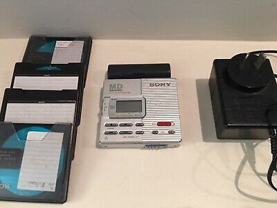 Sony Walkman Mini Disk Recorder / Player Mz-R90 + 4 Disks + Charger