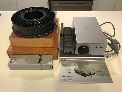 Slide Projector Rollei P35, Projector Screen & 3 Slide Boxes In As New Condition