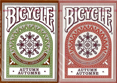 Bicycle Autumn Playing Cards 2 Deck Set (green & red) – Limited Edition - SEALED