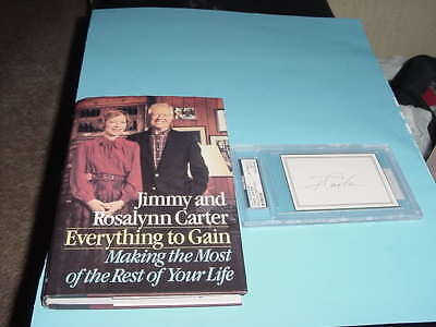 lot of (2) PRESIDENT JIMMY CARTER & ROSALYNN signed book JSA + cut auto PSA/DNA