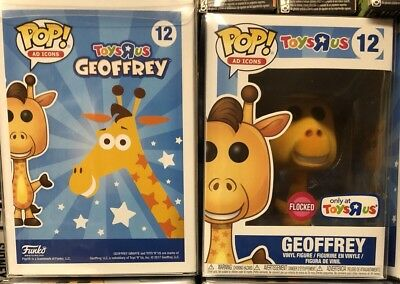 Funko Pop! Ad Icons Toysrus Geoffrey Flocked Figure Exclusive Protector - NEW