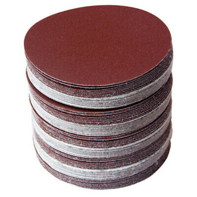 10X(30pcs/set 5inch 125mm Round sandpaper Disk Sand Sheets Grit 80/100/120/ V2Q8