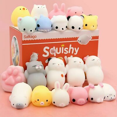 New 100 PCS Mochi Squishy Toys Satkago Mini Squishies Mochi Animals Stress Toys