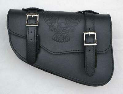 Sacoche laterale en Cuir AIGLE  moto Harley Sportster iron forty eight nighster
