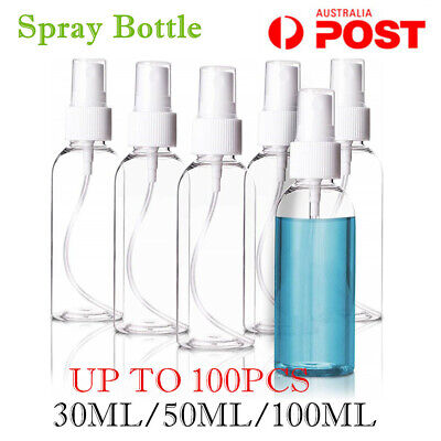 30/50/100ML Clear Transparent Plastic Perfume Atomizer Empty Small Spray Bottle