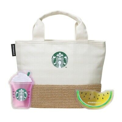 Starbucks JAPAN Cool Cooler Tote bag ice bag gel Frappuccino Canvas Summer 2019