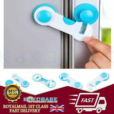 10x Kids Child Baby Safety Door Lock Proof Cupboard Fridge Cabinet Prevent Clamp