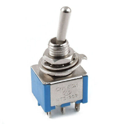 10X(AC 3A/250V 6A/125V 6 Pin DPDT On/On 2 Position Mini Toggle Switch Blue I2F1)