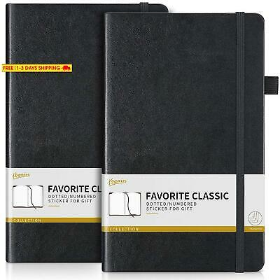 Ribbon Marker Clearance!!!Ruled Notebook/Notepad Black/Brown Page Dividers Gifts Rock Ninja A5 Classic Lined Journal Elegant Soft Leather Notebook with Premium Paper 240 Pages