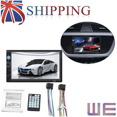 """New 7""""Double 2DIN Car FM Stereo Radio USB MP5 Player Touch Screen Bluetooth UK"""