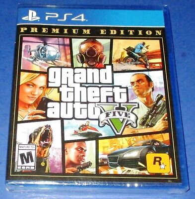 Grand Theft Auto V Premium Edition PlayStation 4 *Factory Sealed! *Free Ship!