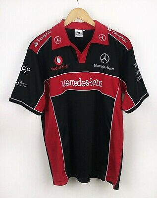 Mercedes-Benz Vodafone McLaren Racing Team Polo Shirt F1 Mobil1 Size XXL
