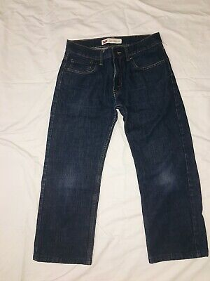 levis 505 Jeans Blue Cotton Boys 18 Regular 29x29 B8