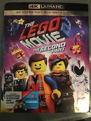 LEGO Movie 2:The Second Part (4K ULTRA HD+BLU-RAY+DIGITAL) /w Slipcover - NEW