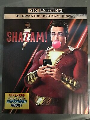 Shazam! (4K Ultra HD UHD/Blu-ray/Digital) - BRAND NEW /w Slipcover, Zachary Levi