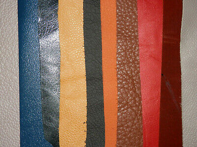 10 pcs Various Colored Leather Remnants / Scraps Various Thickness #7501