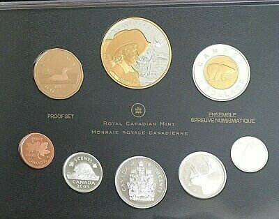 2008 Canada Double  Dollar Proof Set - Gold Plated Sterling Silver Quebec City