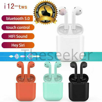 i12 TWS Bluetooth Wireless 5.0 Earphones Earbuds Headsets For Android & IOS
