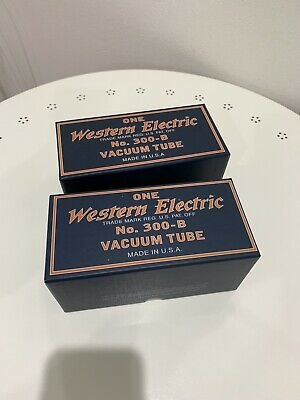 Western Electric 300B matched pair vacuum tubes