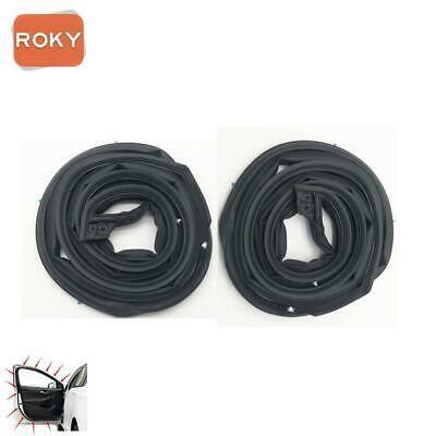 2 PC Front Door Opening Weatherstrip Seal Rubber for Honda CR-V 2007-2011