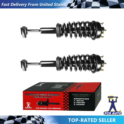Pair Front Quick Complete Struts /& Coil Spring Assemblies Compatible with 2007-2010 Ford Explorer Sport Trac RWD