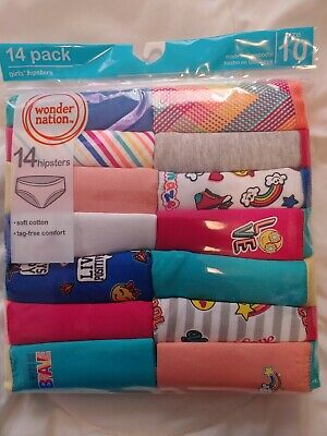 Wonder Nation Girls Hipsters. Pack 14. Size 10