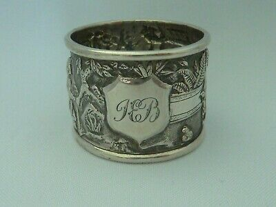 Chinese solid sterling silver figural napkin ring - TC