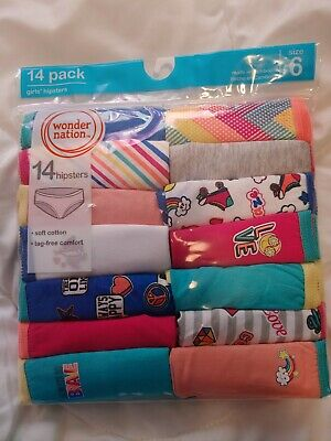 Girl's Wonder Nation Hipster Panty Size 6 - 14 Pack  Multi Color