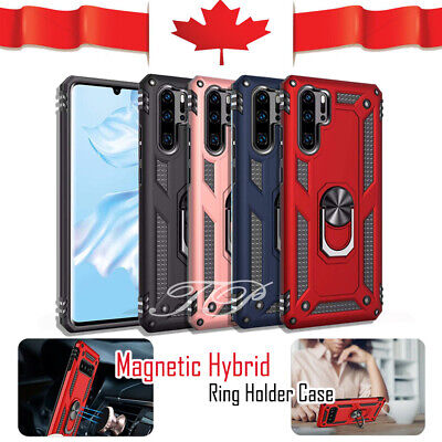 For Huawei P30 Lite P30 Pro Heavy Duty Case Rugged Rotating Magnetic Ring Cover