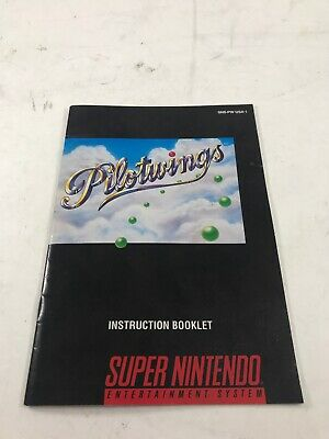 Pilot Wings (SNES Super Nintendo) Instruction Manual Booklet Only... NO GAME