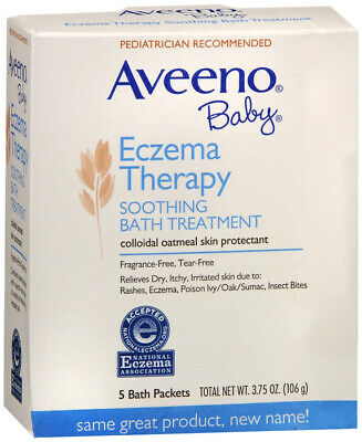 Aveeno Baby, Soothing Bath Treatment, Fragrance Free, 5 ct. 3.75 oz