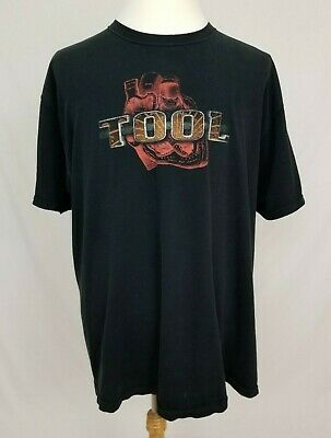VTG Tool Band Tee Heart Graphic T-Shirt Mens 2XL Black Short Sleeve Anvil XXL