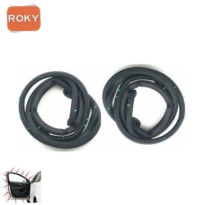 2PC Front Door Opening Weatherstrip Seal Rubber for ACCORD Sedan 1994-1997