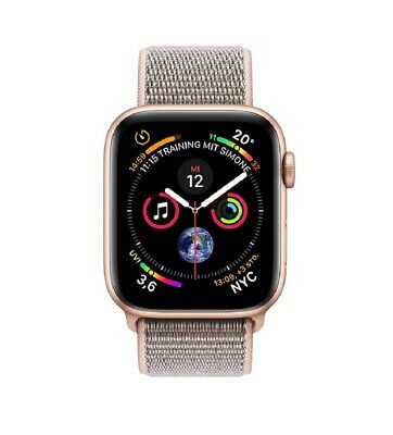 Apple Watch Series 4 40mm GPS Gold Aluminium Gehäuse mit Rosa Sand Sport Loop
